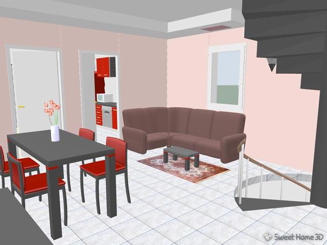 arredoni shtepine me sweet home 3d. Black Bedroom Furniture Sets. Home Design Ideas